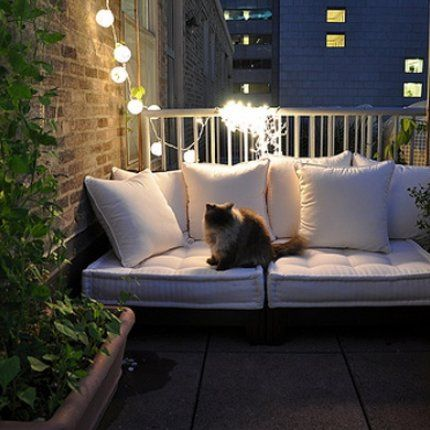 Inspirations Pinterest: Aménagement d\'un petit balcon | Dream home ...