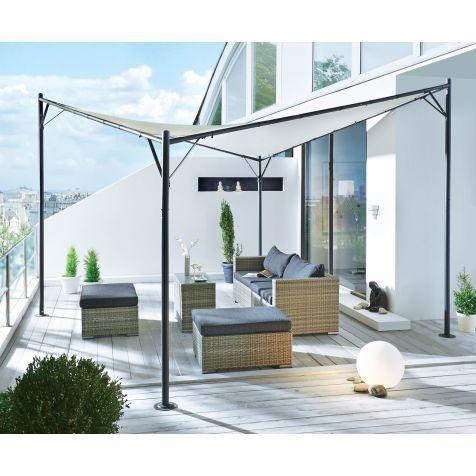 pavillon meridian modern tr ger aus stahl dach aus. Black Bedroom Furniture Sets. Home Design Ideas