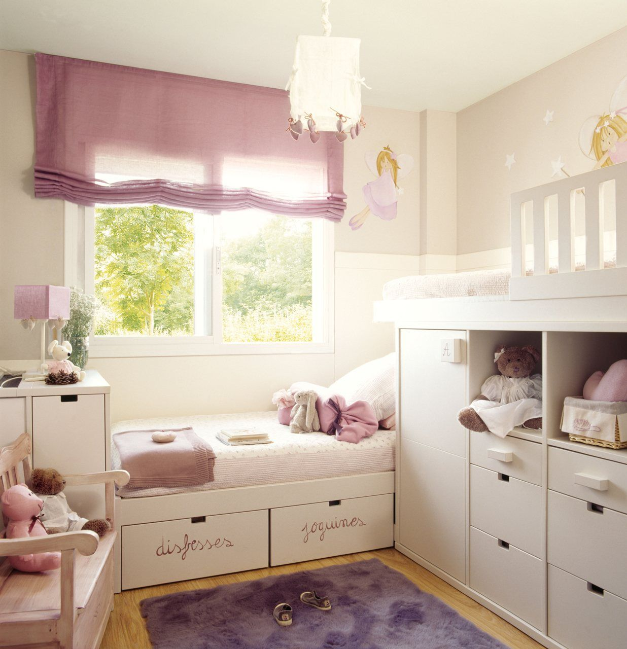 Dormitorios infantiles peque os s cales partido for Cuartos para ninas pequenos