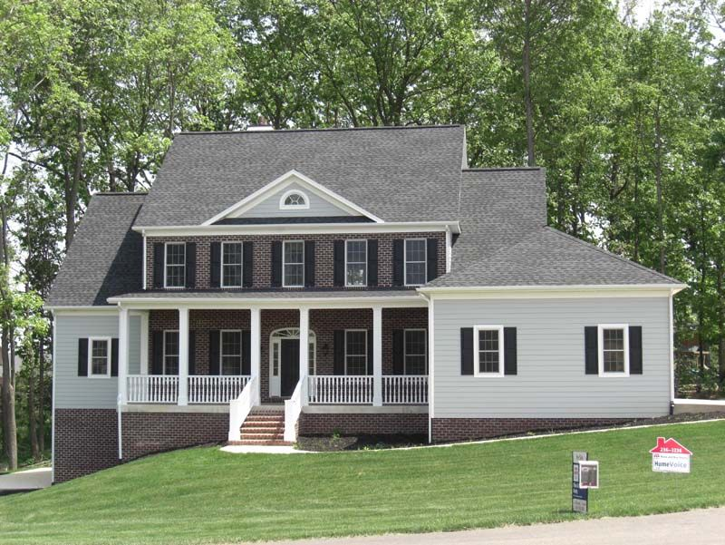 Best Gaf Timberline Hd Charcoal Painted Brick House Gaf 640 x 480