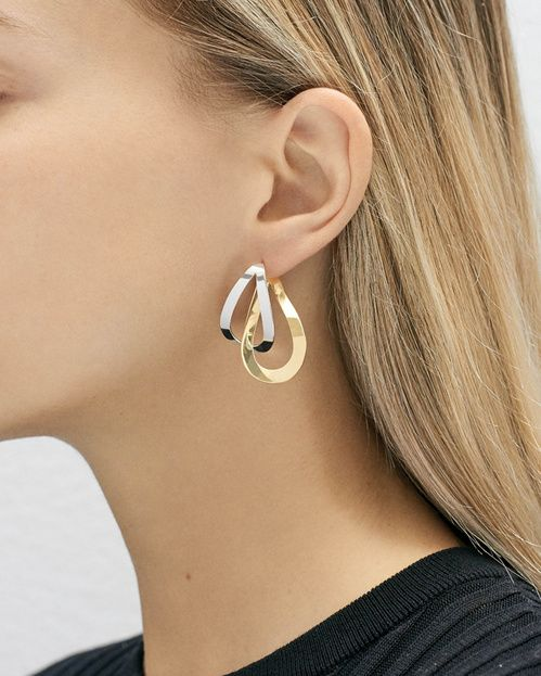 mian product silver on hoop vand clip naho earrings charlotte chesnais