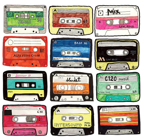 Artists and Designers Pay Homage to the Mixtape | via jenx67.com