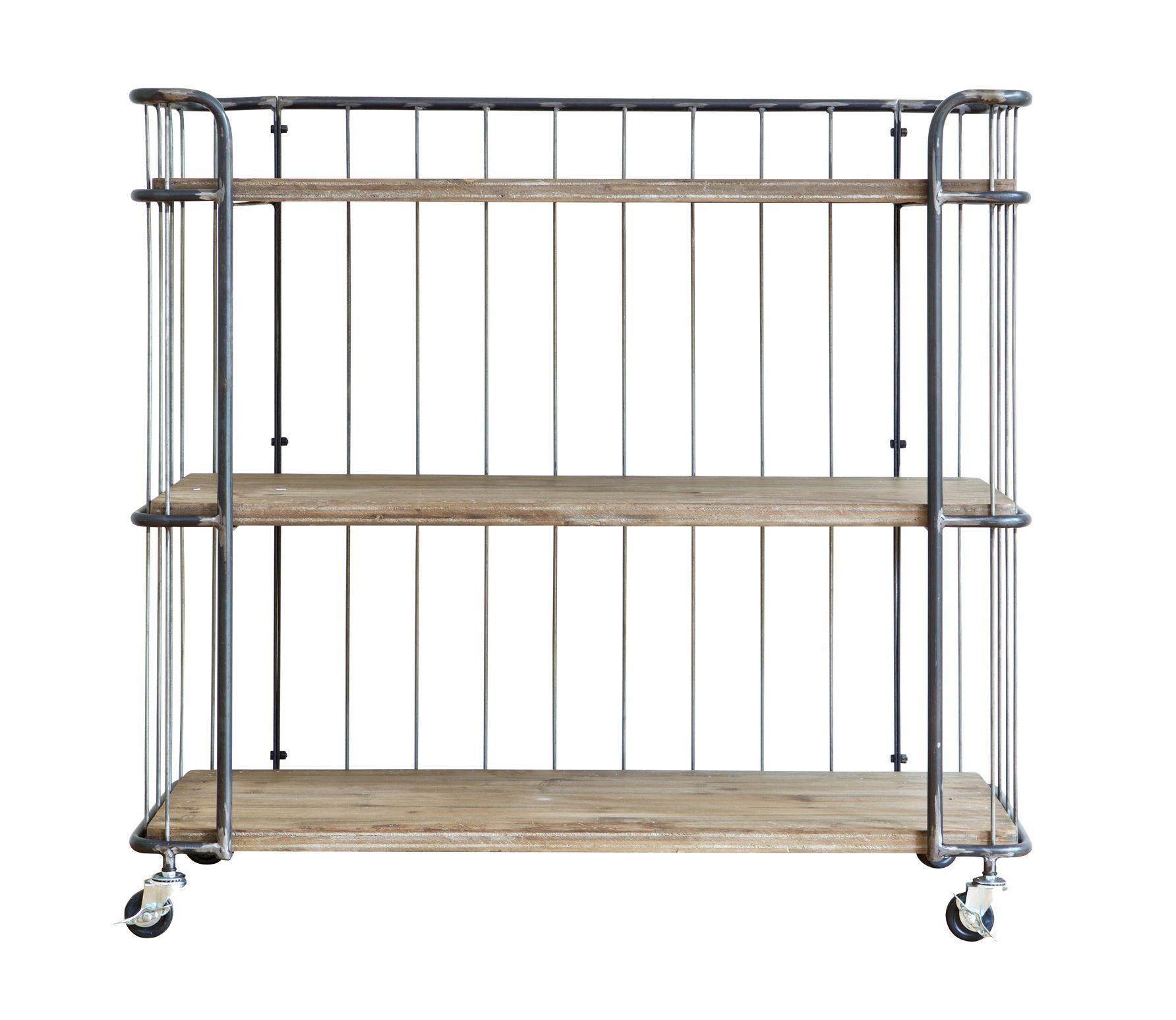 Voorbeeld van Giro vintage metalen trolley Medium BePureHome
