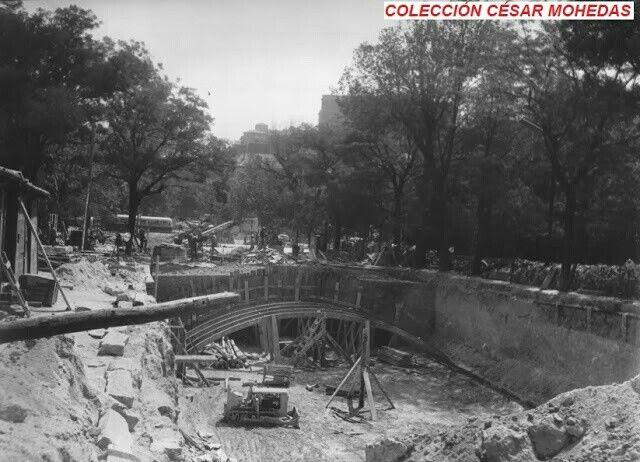 Obras de construcción de la estación de Ruben Dario (1970)