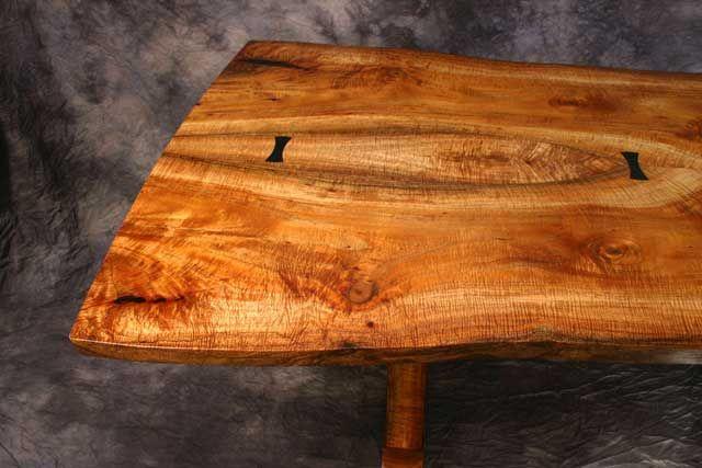 Large koa trestle table