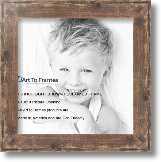 10x10 Real Reclaimed Brown Barnwood 1 5 Inch Picture Frame Frame Wood Picture Frames Clear Stain