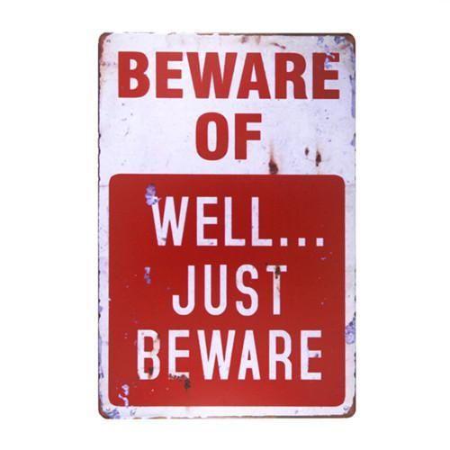 Vintage Aluminium No Trespassing Shot Warning Tin Sign Funny Wall Plaque Decor