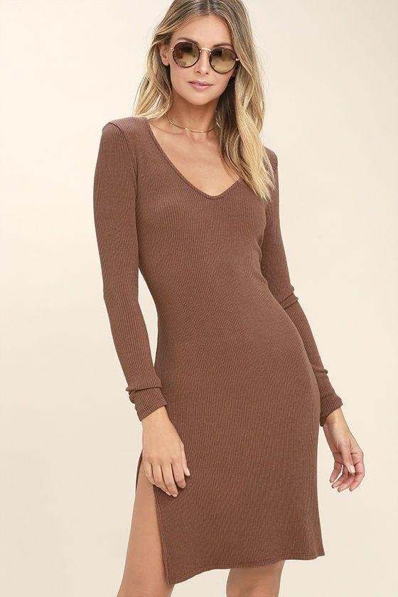 34++ Brown long sleeve dress ideas
