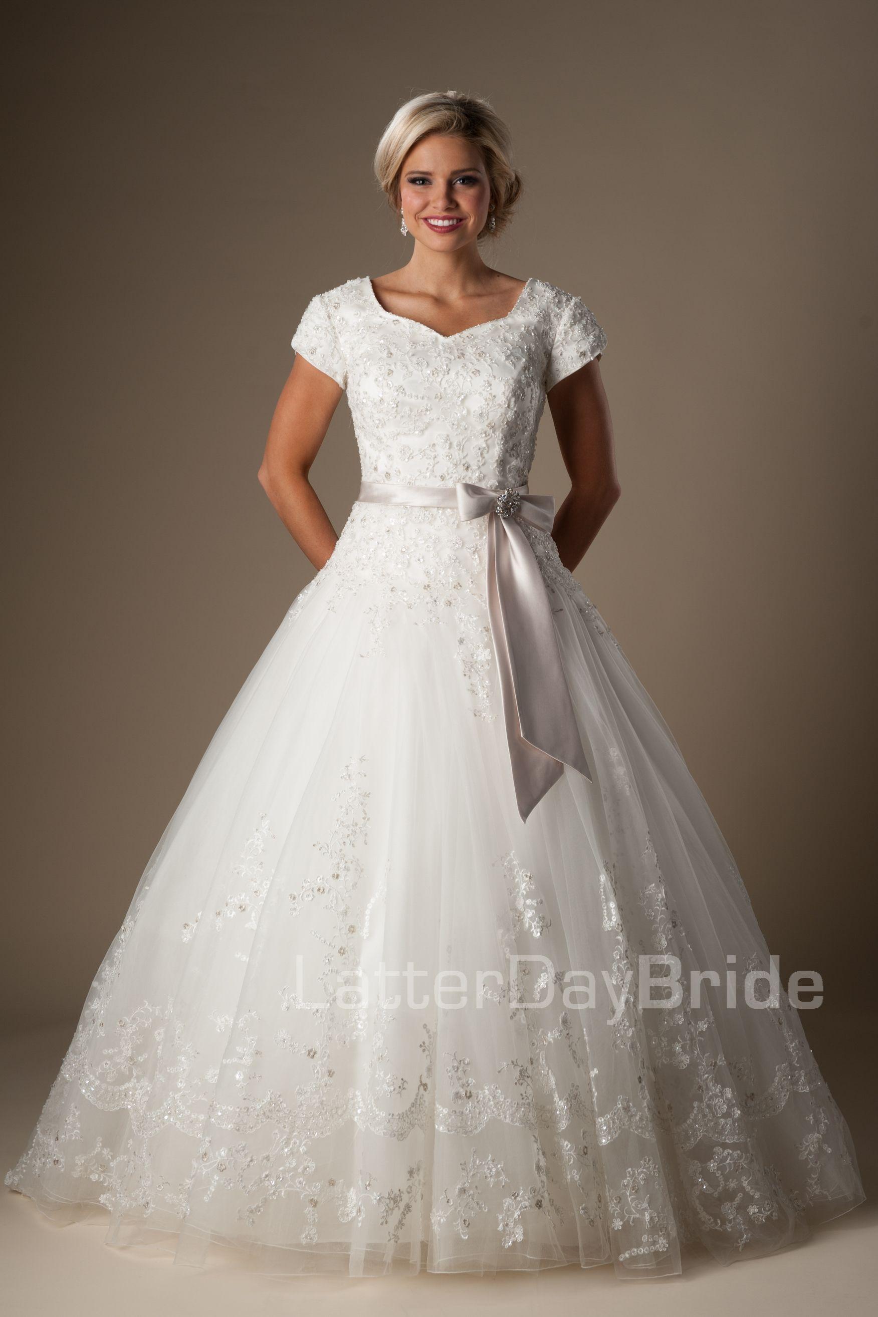 Modest Wedding Dresses Rodolfo: Bling Wedding Dresses Lds Modest At Reisefeber.org