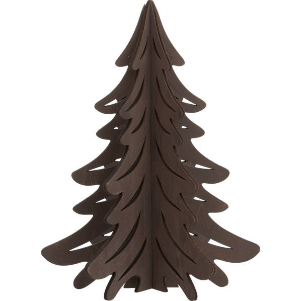 Laser-Cut Dark Tree in Christmas Decorating Crate and Barrel $995