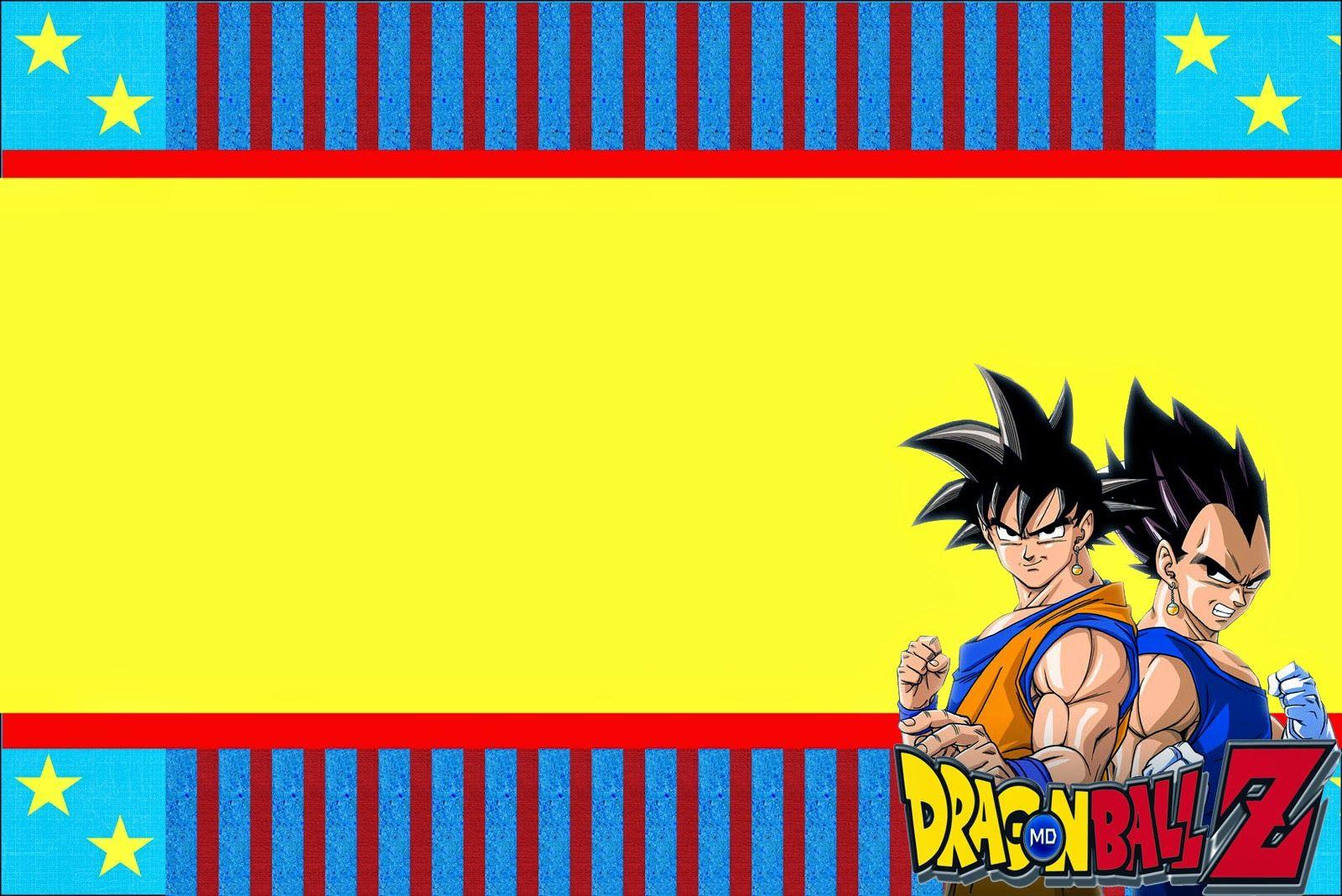 Dragon Ball Z: Free Printable Invitations.   Oh My Fiesta ...