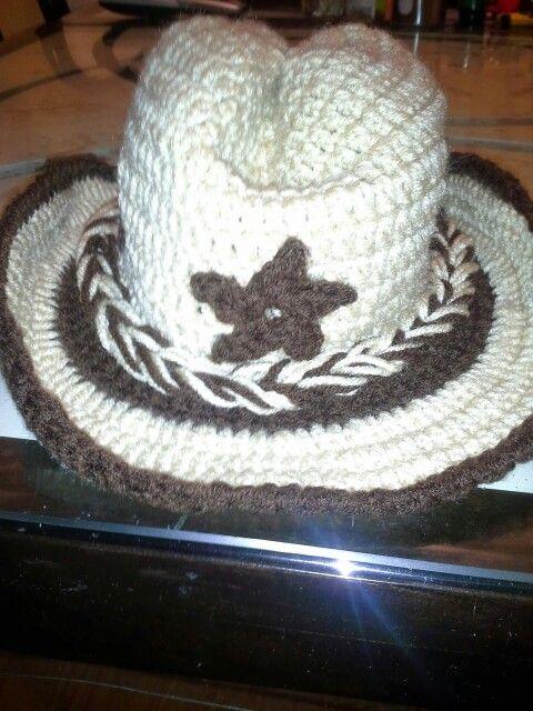 Sombrero vaquero a crochet. | Mis creaciones | Pinterest | Sombreros ...