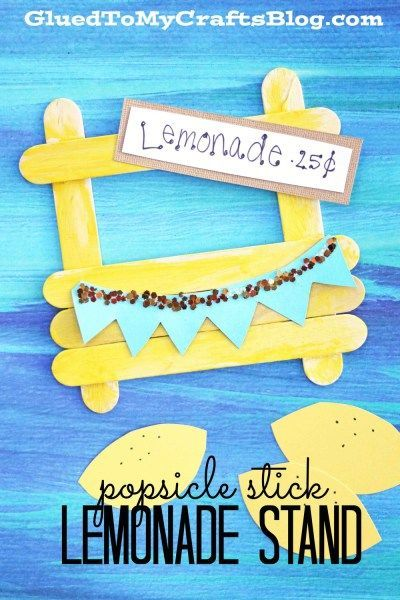 Popsicle Stick Lemonade Stand - Kid Craft -   25 crafts for women