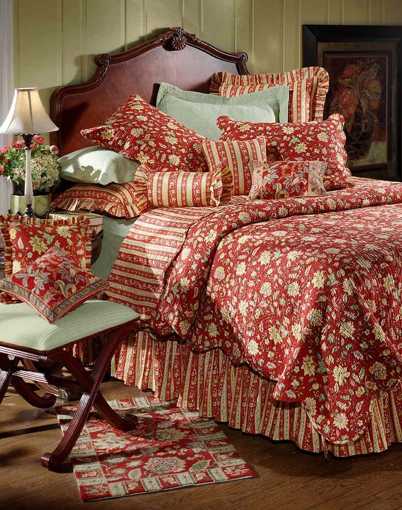 French Country Provence Quilt Very Nice Bedding Country