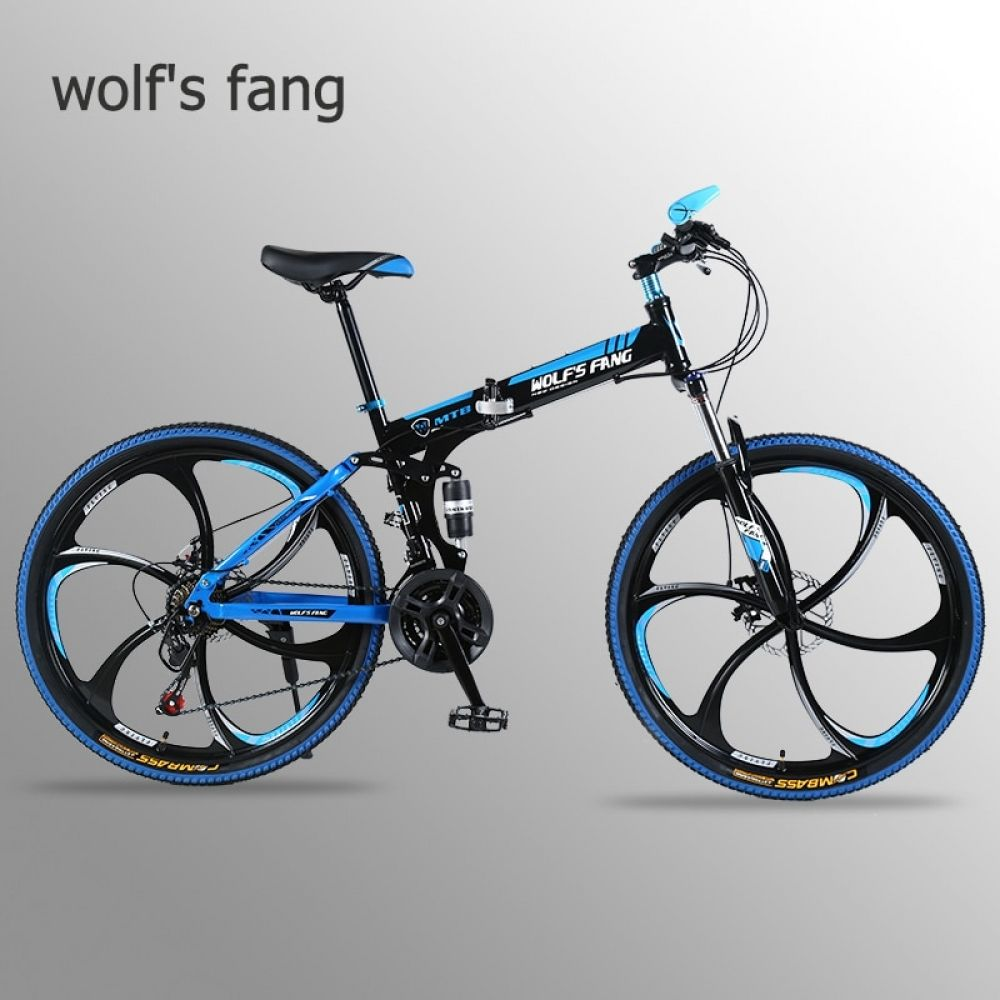 Wolf S Fang Mountain Bike 21 Speed 26 Inch Folding Bike Road Bike