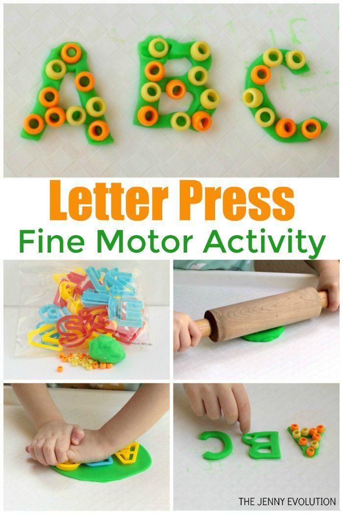 Fine Motor Letter Practice Beaded Playdough Activity The Jenny Evolution Playdough Activities Activities For Autistic Children Preschool Fine Motor