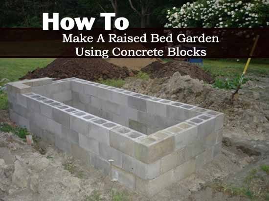 How to make a raised bed garden using concrete blocks for How to raise your bed frame