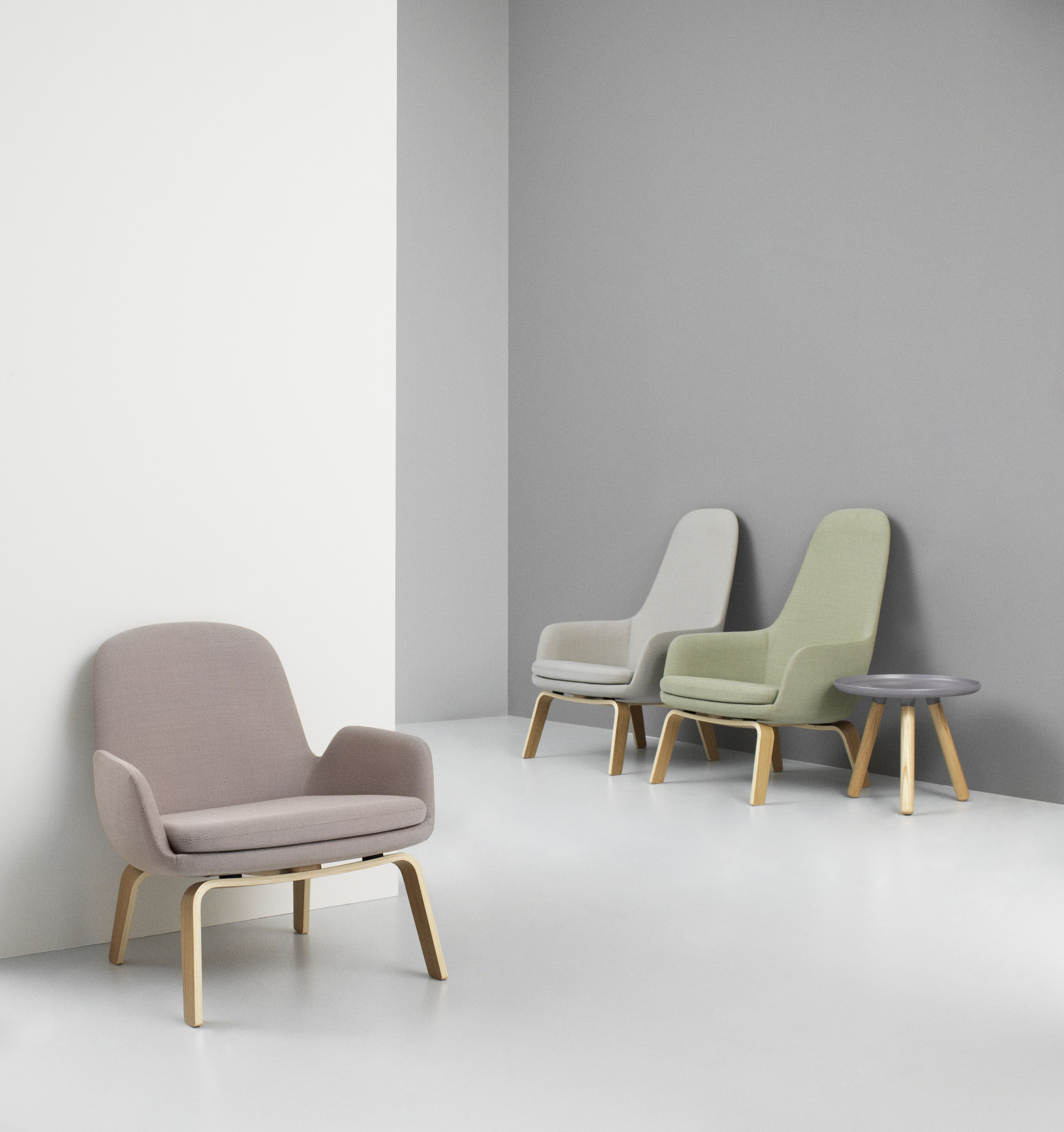 Era lounge chairs in dusted pale colors