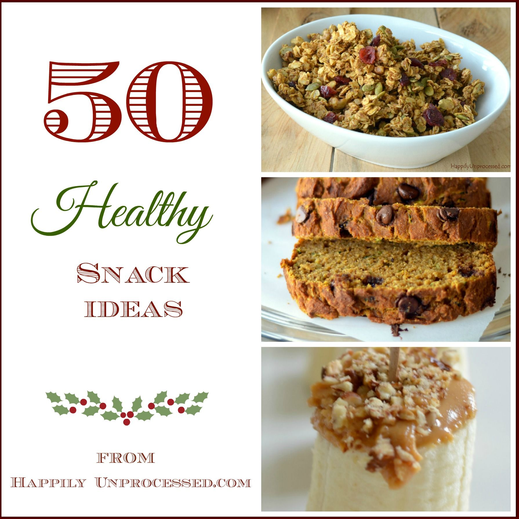 Snacks are a great way to get extra protein, fiber and vitamins in your diet and these ideas will help get you started!