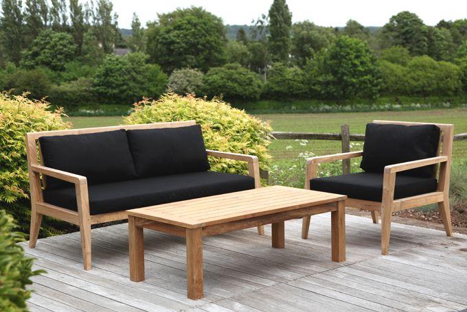 'Menton' Garden Sofa And Armchair. Nice Natural Materials