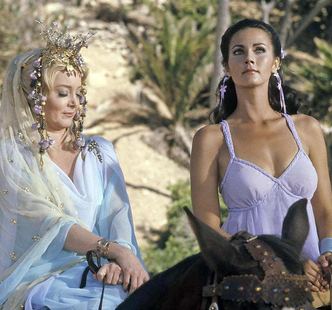 Lynda Carter with Carolyn Jones - Wonder Woman, 1970s | Favorite TV