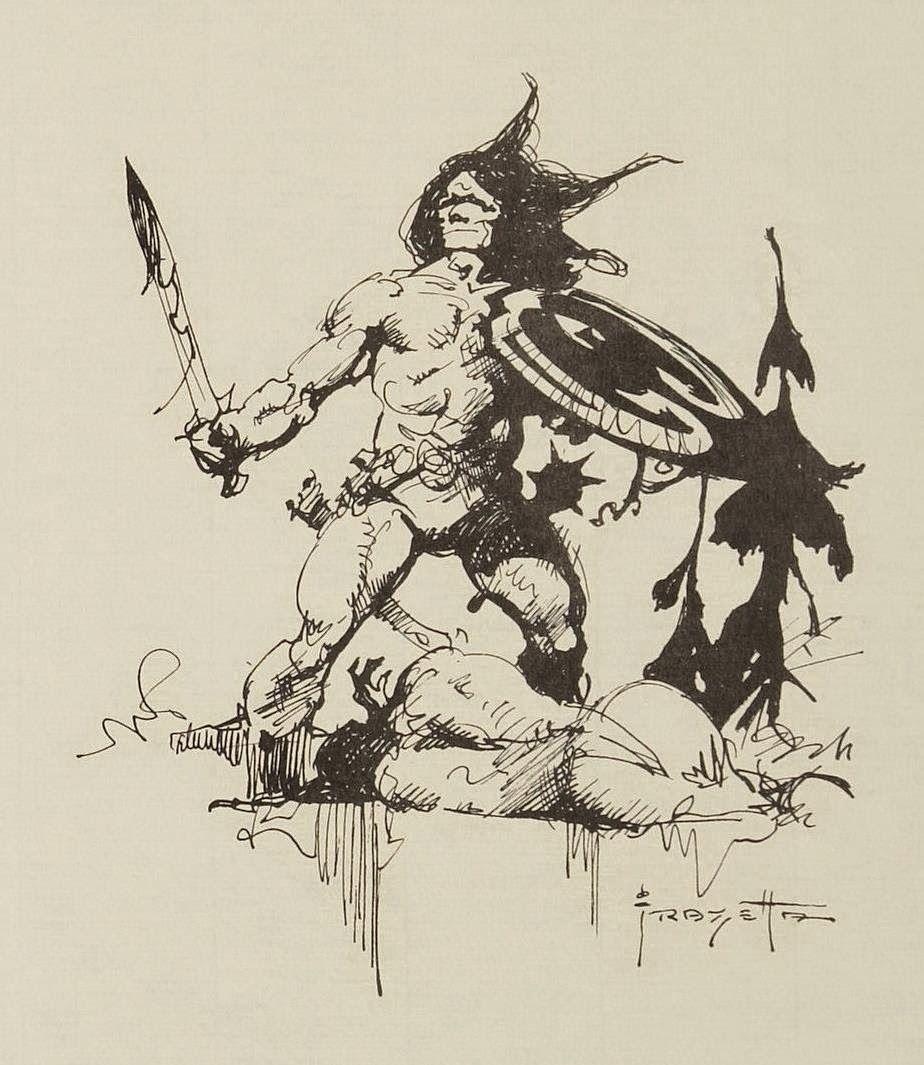 Conan Sketch by Frank Frazetta   Art   Pinterest   Frank frazetta ...