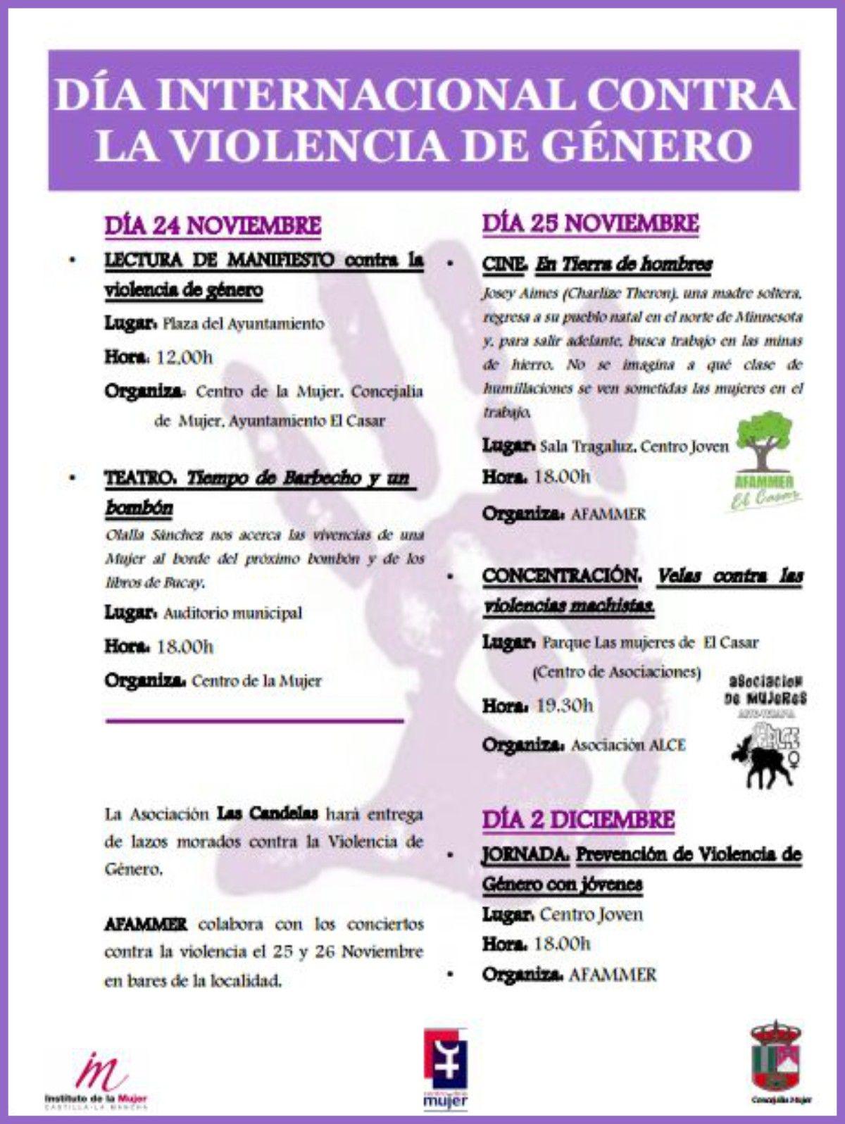 Jornada de prevención de violencia de género entre jóvenes.