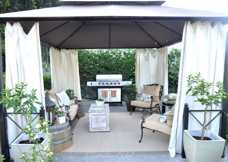 Yards With Outdoor Canopy Designs