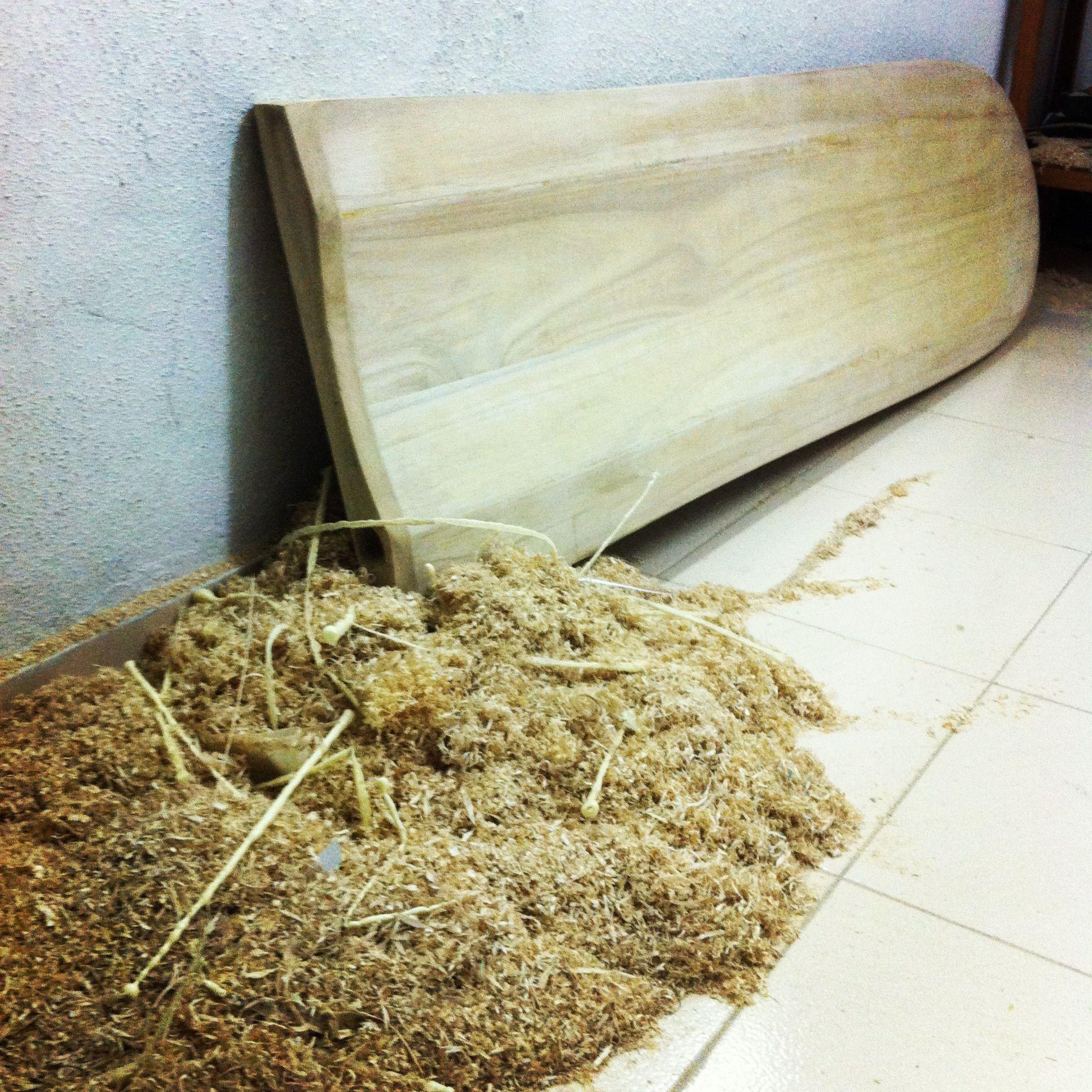 Hollow wooden alaia surfboard