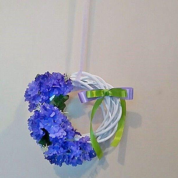 #decorations #wreath #flowers #spring #design #Interior #wianek #wiosna #dekoracje #wielkanoc #handmade #diy