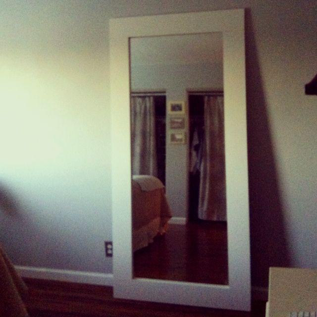 Elegant Mirror Repurposed From Sliding Closet Door...4 Piece Of Wood Cut @ Home