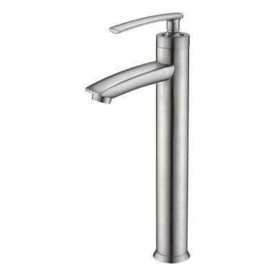 Photo of Fifth Single Hole Bathroom Faucet with Drain Assembly Finish: Brushed Nickel