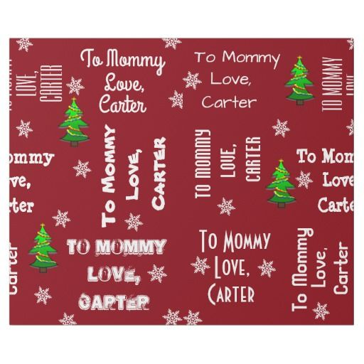 child giving gift personalized christmas wrapping paper christmas