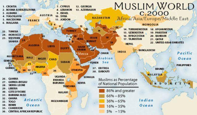 Cartina Europa E Medio Oriente.Conoscenza Elementare Dell Islam Contemporaneo E Del Mondo Arabo Per Capire Quel Che Succede Oggi Nel Vicino Medio Oriente E Nel Mondo Globalizzato Map Islam Muslim Countries