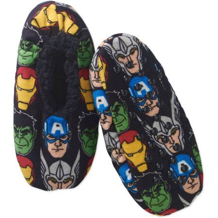 Marvel Avengers Boys' Silky Suede Babba, 1 Pack, Size: S/M, Black