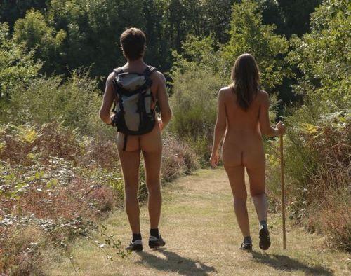 Resultado de imagen para couples nudists naked hiking, black & white