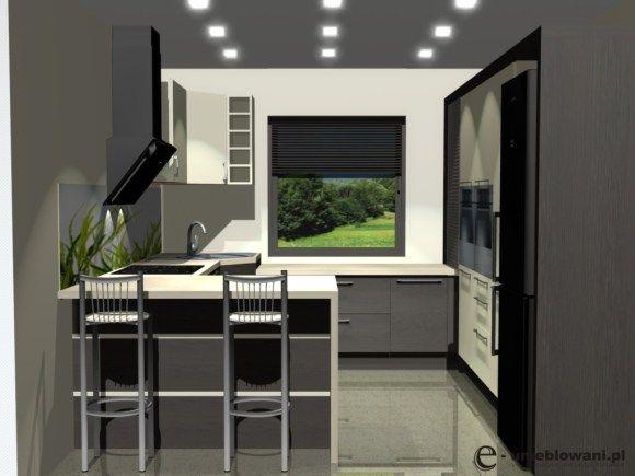 Małe Projekty Kuchni Kuchnia Zjednym Oknem Barek