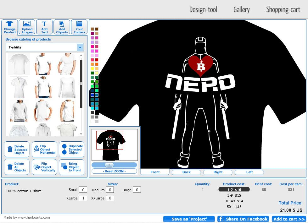 bitcoin nerd t shirt template designed using online t shirt design software