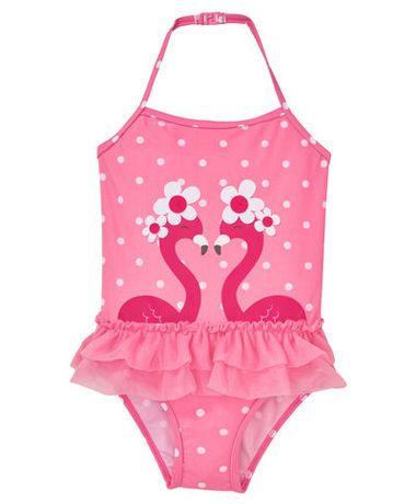 Badeanzug - gepunktet, Flamingos günstig | Günstige mode