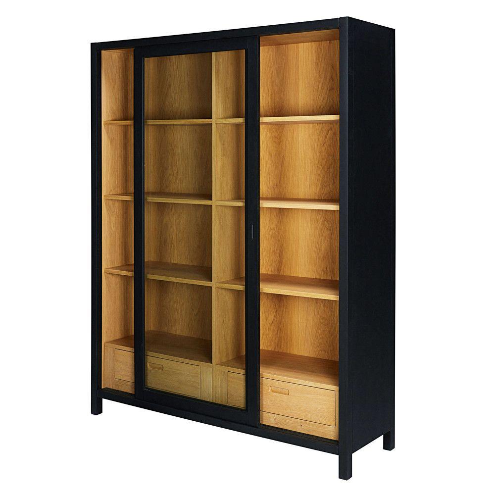 vitrine mit 2 schubladen schwarz sweet pinterest furniture display case and drawers. Black Bedroom Furniture Sets. Home Design Ideas