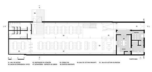 Resultado de imagen para arquitectura bibliotecas plantas for Plantas de arquitectura