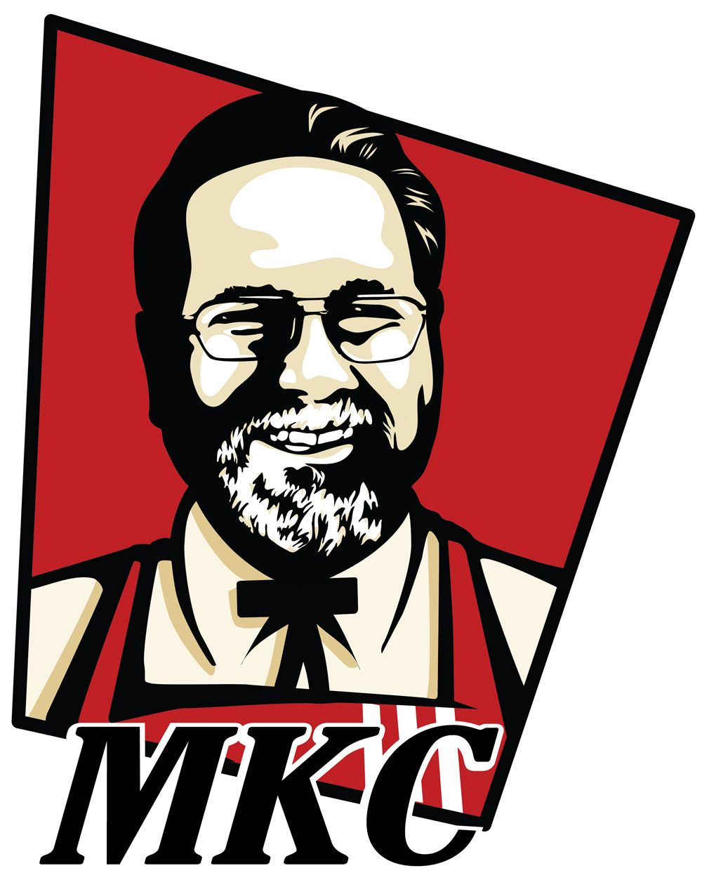 Draw you in kfc logo style caricature pop arts Dessin