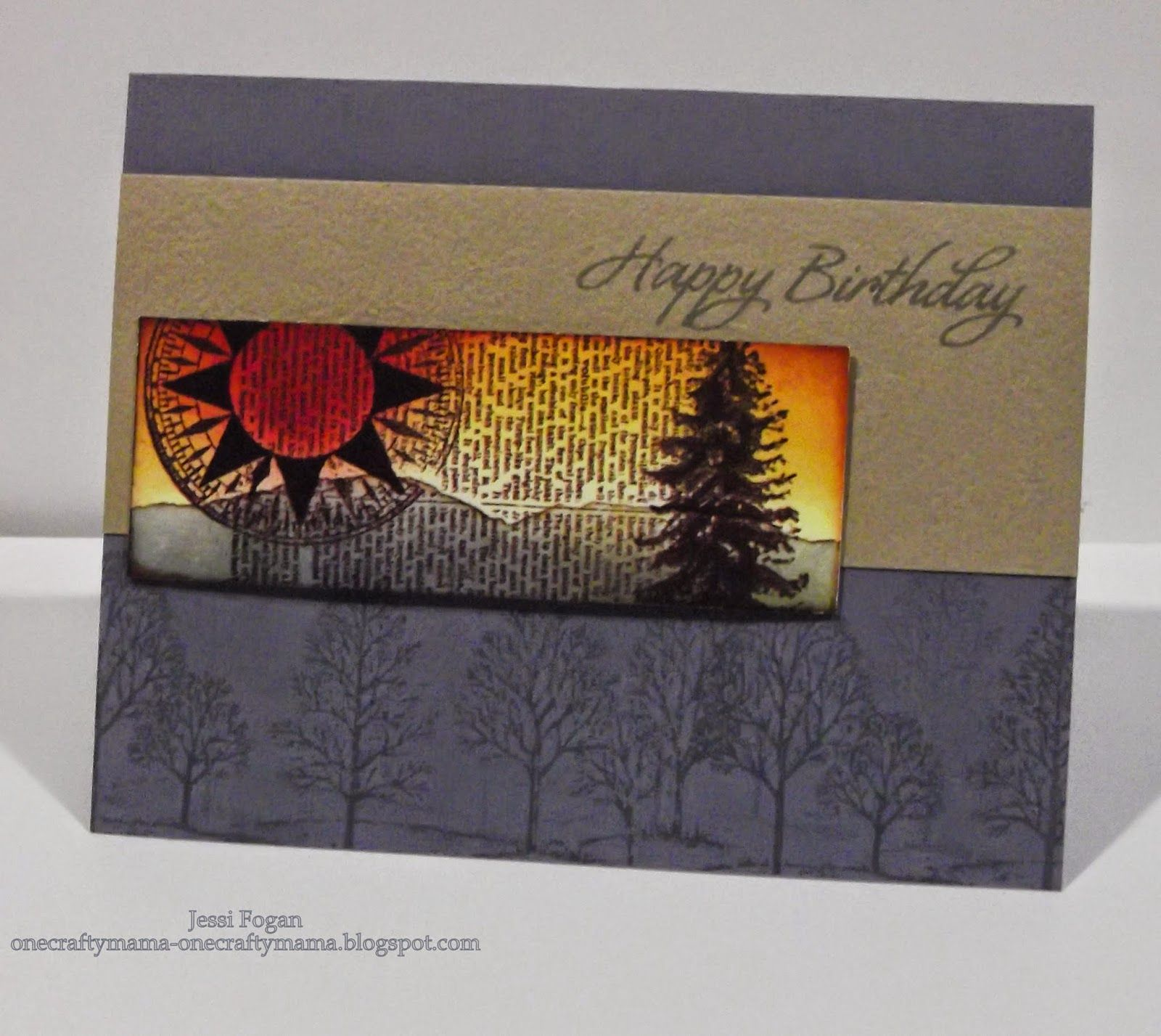 Casual masculine birthday card by one crafty mama lovely as a tree