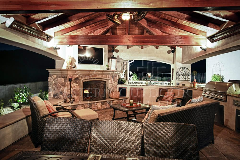 Outdoor rooms with fireplaces western outdoor design is - Outdoor living spaces with fireplace ...