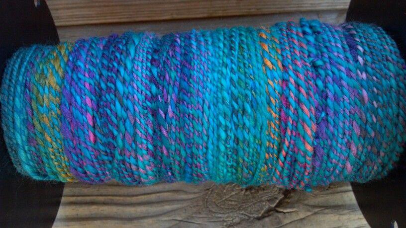 On the bobbin before weaving.