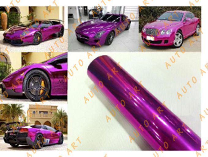 Chrome Pink Polished Vinyl Car Decal Sticker Romantic ColorAuto - Chrome custom vinyl decals for trucks