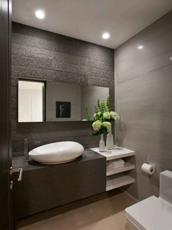 Renew Your Small Bathroom With Modern Decor In Green  Modern Glamorous Modern Grey Bathroom Designs Inspiration Design