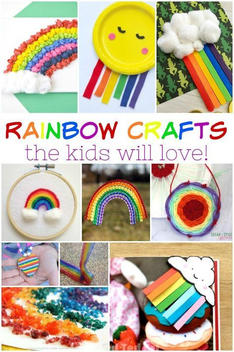 Rainbow crafts the kids will love - It's me, debcb! #rainbowcrafts