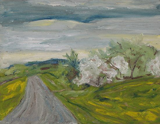 Spring Country Road by Francois Fournier Oil ~ 14 x 18