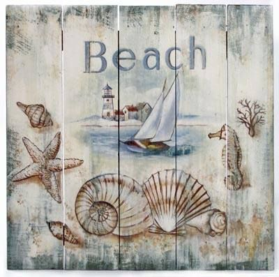 Praia Mb Hand Painted Beach Signs Beach Art